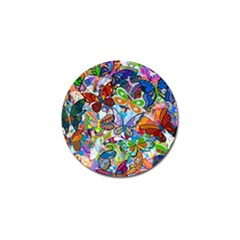 Color Butterfly Texture Golf Ball Marker (10 Pack)