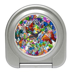 Color Butterfly Texture Travel Alarm Clocks