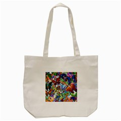 Color Butterfly Texture Tote Bag (Cream)