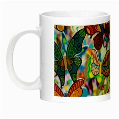 Color Butterfly Texture Night Luminous Mugs