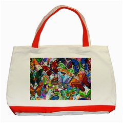 Color Butterfly Texture Classic Tote Bag (Red)