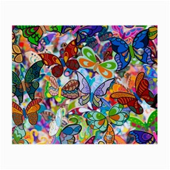 Color Butterfly Texture Small Glasses Cloth (2-Side)