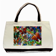 Color Butterfly Texture Basic Tote Bag (two Sides)
