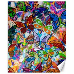Color Butterfly Texture Canvas 11  x 14