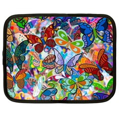 Color Butterfly Texture Netbook Case (xl)