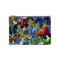 Color Butterfly Texture Cosmetic Bag (Medium)