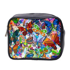 Color Butterfly Texture Mini Toiletries Bag 2-Side