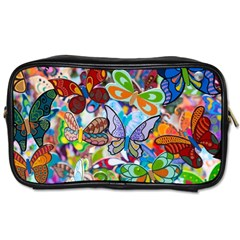 Color Butterfly Texture Toiletries Bags 2-Side
