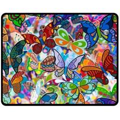 Color Butterfly Texture Fleece Blanket (medium)