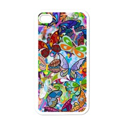 Color Butterfly Texture Apple Iphone 4 Case (white)