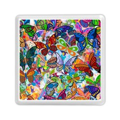 Color Butterfly Texture Memory Card Reader (square)
