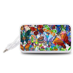 Color Butterfly Texture Portable Speaker (white)