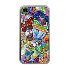 Color Butterfly Texture Apple iPhone 4 Case (Clear)