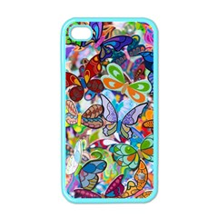 Color Butterfly Texture Apple iPhone 4 Case (Color)