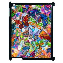 Color Butterfly Texture Apple iPad 2 Case (Black)