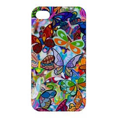 Color Butterfly Texture Apple iPhone 4/4S Premium Hardshell Case