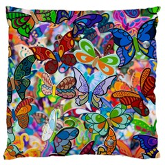 Color Butterfly Texture Large Cushion Case (Two Sides)