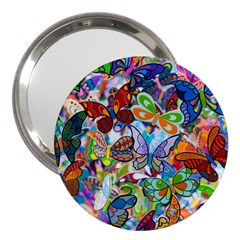 Color Butterfly Texture 3  Handbag Mirrors