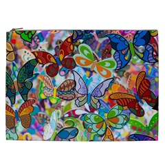 Color Butterfly Texture Cosmetic Bag (XXL)
