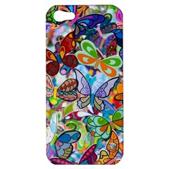 Color Butterfly Texture Apple iPhone 5 Hardshell Case