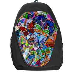 Color Butterfly Texture Backpack Bag