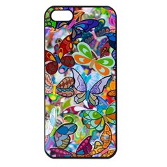Color Butterfly Texture Apple iPhone 5 Seamless Case (Black)