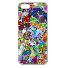 Color Butterfly Texture Apple Seamless iPhone 5 Case (Clear)