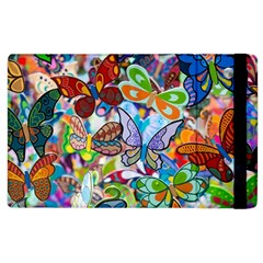 Color Butterfly Texture Apple iPad 3/4 Flip Case