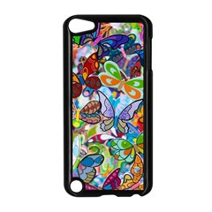 Color Butterfly Texture Apple iPod Touch 5 Case (Black)