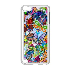 Color Butterfly Texture Apple iPod Touch 5 Case (White)