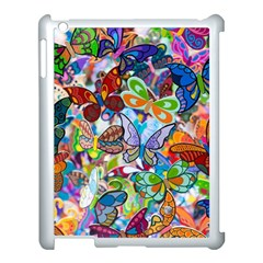 Color Butterfly Texture Apple iPad 3/4 Case (White)