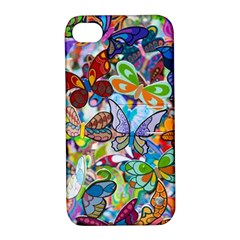 Color Butterfly Texture Apple iPhone 4/4S Hardshell Case with Stand