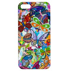 Color Butterfly Texture Apple iPhone 5 Hardshell Case with Stand