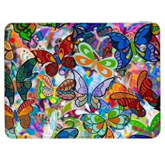 Color Butterfly Texture Samsung Galaxy Tab 7  P1000 Flip Case