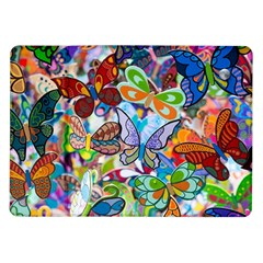 Color Butterfly Texture Samsung Galaxy Tab 10.1  P7500 Flip Case