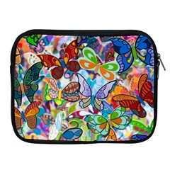 Color Butterfly Texture Apple iPad 2/3/4 Zipper Cases