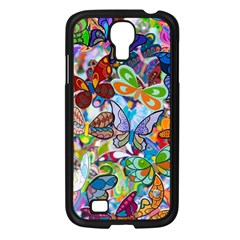 Color Butterfly Texture Samsung Galaxy S4 I9500/ I9505 Case (Black)