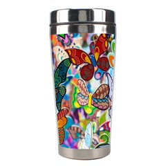 Color Butterfly Texture Stainless Steel Travel Tumblers
