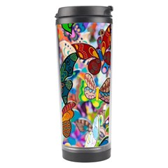 Color Butterfly Texture Travel Tumbler