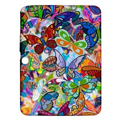 Color Butterfly Texture Samsung Galaxy Tab 3 (10.1 ) P5200 Hardshell Case