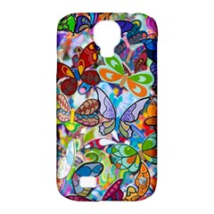 Color Butterfly Texture Samsung Galaxy S4 Classic Hardshell Case (PC+Silicone)