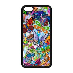 Color Butterfly Texture Apple iPhone 5C Seamless Case (Black)