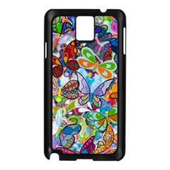 Color Butterfly Texture Samsung Galaxy Note 3 N9005 Case (Black)