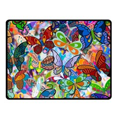 Color Butterfly Texture Double Sided Fleece Blanket (Small)