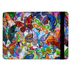 Color Butterfly Texture Samsung Galaxy Tab Pro 12 2  Flip Case