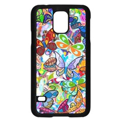 Color Butterfly Texture Samsung Galaxy S5 Case (Black)