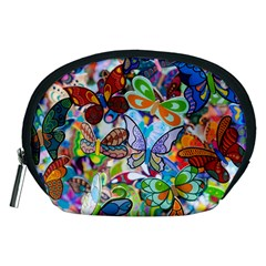 Color Butterfly Texture Accessory Pouches (Medium)