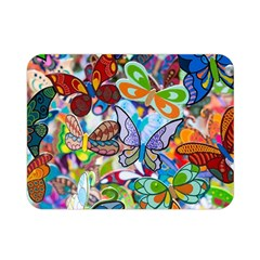 Color Butterfly Texture Double Sided Flano Blanket (Mini)