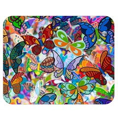 Color Butterfly Texture Double Sided Flano Blanket (medium)