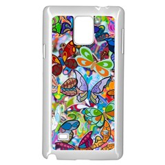 Color Butterfly Texture Samsung Galaxy Note 4 Case (white)